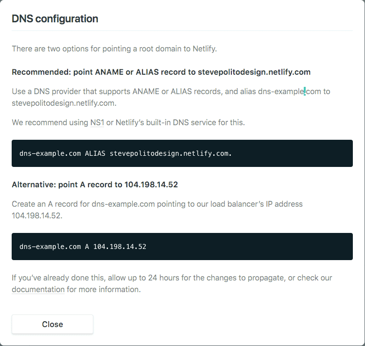 Netlify DNS Recommendations